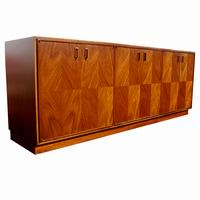 """Midcentury Retro Style Modern Architectural Vintage Regarding Favorite Francisca 40"""" Wide Maple Wood Sideboards (View 24 of 30)"""