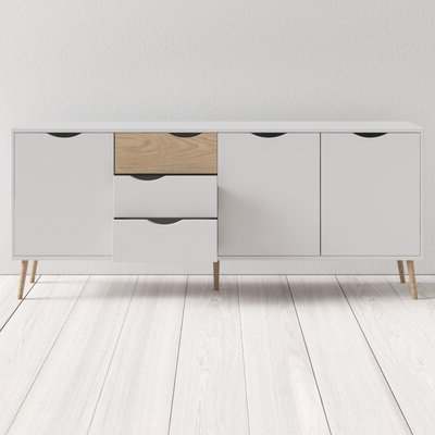 """Milena 52"""" Wide 2 Drawer Sideboards Pertaining To Most Up To Date Modern Sideboards + Buffets (View 28 of 30)"""