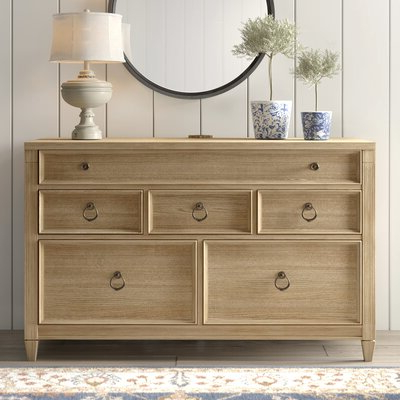 """Millstadt 52"""" Wide 3 Drawer Pine Wood Buffet Tables Intended For Latest Farmhouse & Rustic Sideboards & Buffets (View 15 of 30)"""
