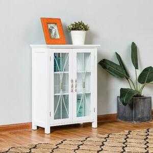 """Millwood Pines Floor Storage Cabinet With 2 Doors And 2 Open Shelves Inside Recent Millwood Pines Linder 2 Door Floor 24"""" W X  (View 8 of 30)"""