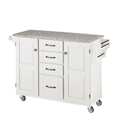 Millwood Pines Floor Storage Cabinet With 2 Doors And 2 Open Shelves Intended For Trendy Millwood Pines Legler A Cart Kitchen Island With Granite (View 9 of 30)