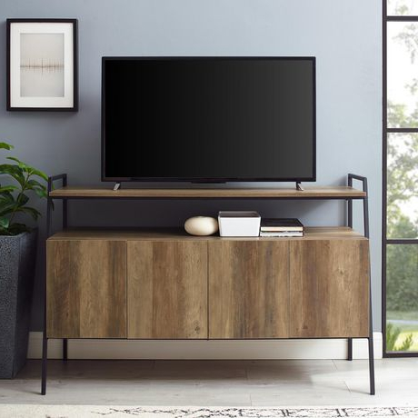 Modern Industrial Tv Stand With Storage For Tv's Up To 56 Regarding Widely Used Kemble Tv Stands For Tvs Up To (View 8 of 30)