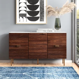 """Modern Intended For Most Popular Albright 58"""" Wide 3 Drawer Sideboards (View 9 of 30)"""