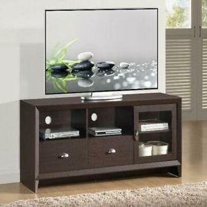 """Modern Tv Stand For Tvs Up To 60"""" Storage Glass Door, 2 Regarding 2019 Lorraine Tv Stands For Tvs Up To 60"""" (View 5 of 30)"""