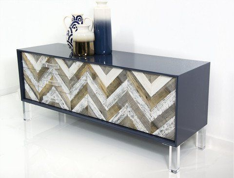 """Modern Wood In Well Known Caila 60"""" Wide 3 Drawer Sideboards (View 30 of 30)"""