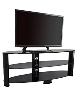 """Most Current Argus Tv Stands For Tvs Up To 65"""" Pertaining To Amazon: Avf Ovl1400bb A Tv Stand With Glass Shelves (View 9 of 30)"""