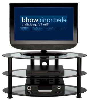 """Most Current Avenir Tv Stands For Tvs Up To 60"""" Within Alphason Curved Black Glass Tv Stand For Tvs Upto 60 Inches (View 21 of 30)"""