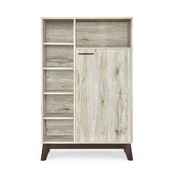 """Most Current George Oliver Sideboards """"new York Range"""" Gray Solid Pine Wood Inside George Oliver 1 Door Accent Cabinet (View 10 of 30)"""