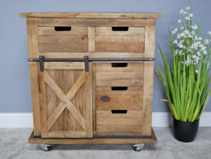 Most Current Mango Wood And Iron Rustic Industrial Style Cabinet (View 19 of 30)
