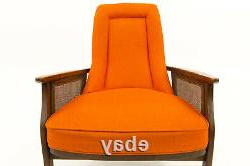 Most Current Vtg Mcm Mid Century Modern Orange Lounge Chair Furniture With Adrian (View 14 of 30)