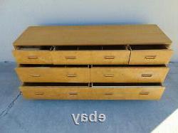"""Most Current Vtg Tlc Henredon Scene Two Olive Burled Wood Dresser Regarding Fugate 48"""" Wide 4 Drawer Credenzas (View 25 of 30)"""