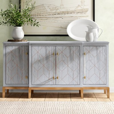 """Most Current Yukon 58"""" Wide 2 Drawer Pine Wood Sideboards For Farmhouse & Rustic Sideboards & Buffets (View 11 of 30)"""