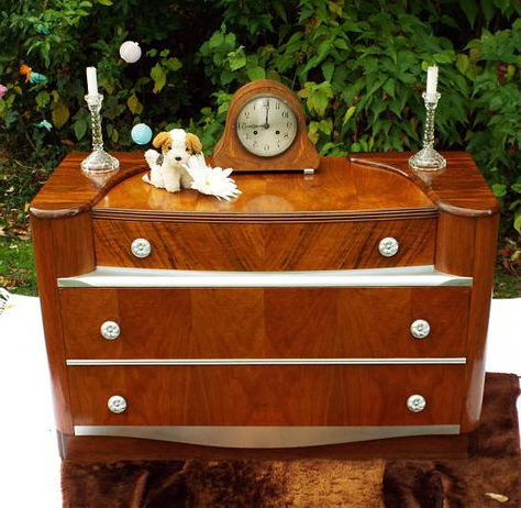 """Most Popular 1930s Art Deco Figured Walnut Sideboard Dressing Table Pertaining To Frida 71"""" Wide 2 Drawer Sideboards (View 28 of 30)"""