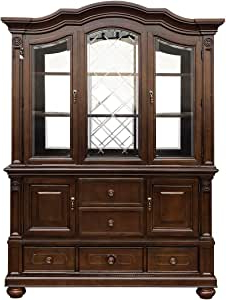 """Most Popular Amazon – Homelegance Lordsburg 5 Drawer Buffet & Hutch With Regard To Frida 71"""" Wide 2 Drawer Sideboards (View 18 of 30)"""
