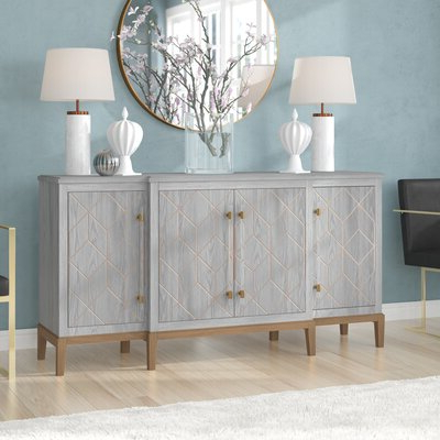 """Most Popular Barkell 42"""" Wide 2 Drawer Acacia Wood Drawer Servers Pertaining To Coastal Sideboards & Buffets You'll Love In (View 6 of 30)"""