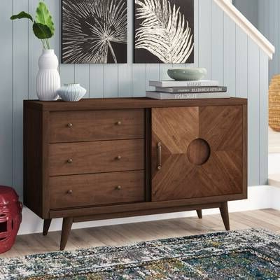 """Most Popular Cora Rose 62.9"""" Wide 3 Drawer Acacia Wood Sideboards With Regard To Cora Rose  (View 13 of 26)"""