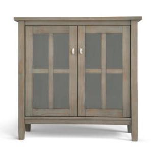 """Most Popular Ellison 76"""" Wide Sideboards Regarding Simpli Home Warm Shaker 2 Door Storage Cabinet – The Door (View 19 of 30)"""