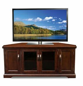 """Most Popular Kemble Tv Stands For Tvs Up To 56 In Leick 81386 Chocolate Cherry Corner Tv Stand, 60"""" 56 Inch (View 3 of 30)"""
