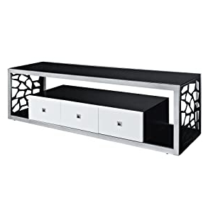 """Most Popular Lederman Tv Stands For Tvs Up To 70"""" Inside Amazon – We Furniture Black Glass Modern Mosaic Tv (View 17 of 30)"""