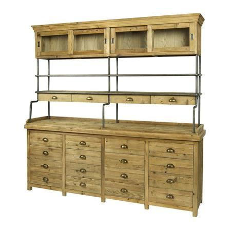 """Most Popular Searsport 48"""" Wide 4 Drawer Buffet Tables Regarding 16 Drawer Sideboard Display Cabinet (View 13 of 30)"""