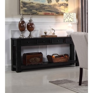 """Most Popular Shop Palos Heights Sofa Table – Overstock – 9120478 Pertaining To Voight 46"""" Wide 4 Drawer Acacia Wood Drawer Servers (View 21 of 24)"""