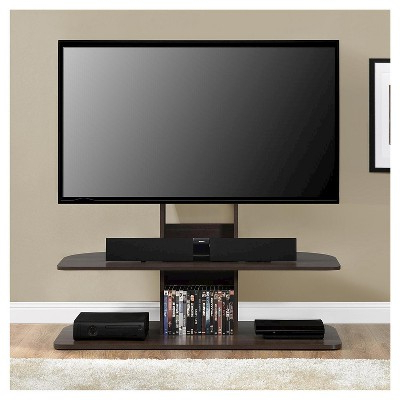 """Most Popular Solar Tv Stand With Mount For Tvs Up To 65"""" Wide Espresso With Regard To Adalberto Tv Stands For Tvs Up To 65"""" (View 12 of 30)"""