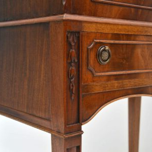 Most Popular Wood Accent Sideboards Buffet Serving Storage Cabinet With 4 Framed Glass Doors Intended For Antique Georgian Style Mahogany Cocktail Cabinet (View 16 of 30)