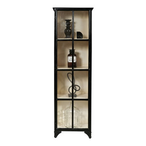Most Popular Wood Accent Sideboards Buffet Serving Storage Cabinet With 4 Framed Glass Doors With Regard To Zadie Double Door Display Cabinet – Transitional – China (View 29 of 30)