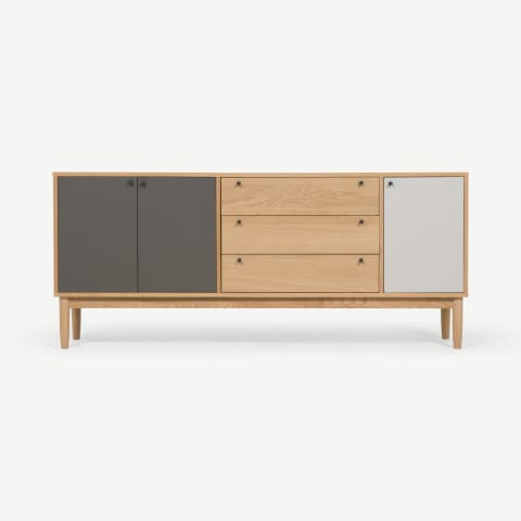 Most Recent Asger Wide Sideboard, Oak Effect (View 12 of 30)