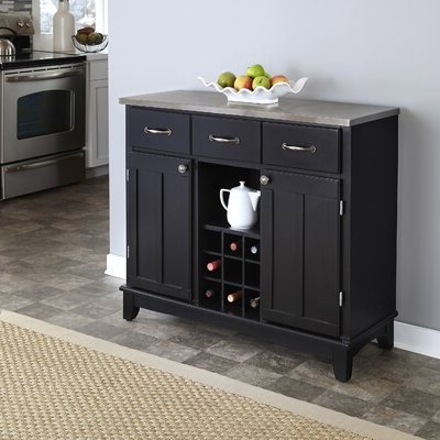 """Most Recent Farmhouse & Rustic Wine Bottle Storage Equipped Sideboards Intended For Marple 42"""" Wide 2 Drawer Servers (View 21 of 30)"""