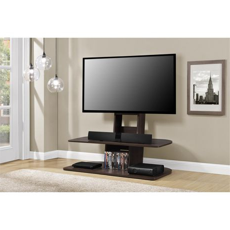 """Most Recent Galaxy Tv Stand With Mount For Tvs Up To 65"""", Black Throughout Argus Tv Stands For Tvs Up To 65"""" (View 10 of 30)"""