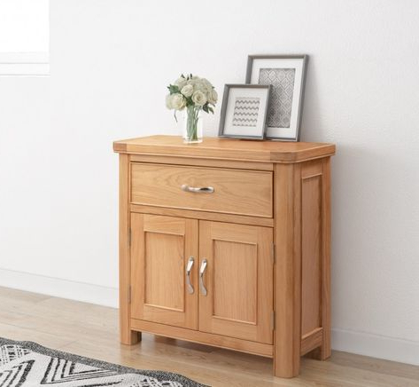 """Most Recent Ismay 56"""" Wide 3 Drawer Sideboards Regarding Chester Compact Sideboard With 1 Drawer And 2 Doors (View 14 of 30)"""
