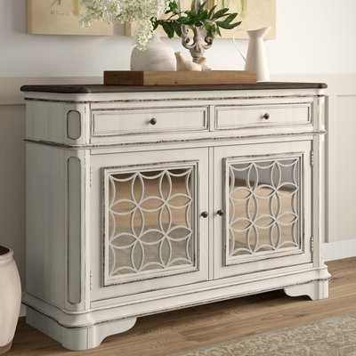 """Most Recent Mirrored Sideboard & Buffet Tables You'll Love In 2020 Pertaining To Sandweiler 54"""" Wide 2 Drawer Sideboards (View 28 of 30)"""
