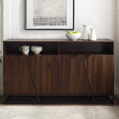 """Most Recent Rustic & Farmhouse Sideboards, Buffets & Buffet Tables You Pertaining To Fahey 58"""" Wide 3 Drawer Acacia Wood Sideboards (View 25 of 30)"""