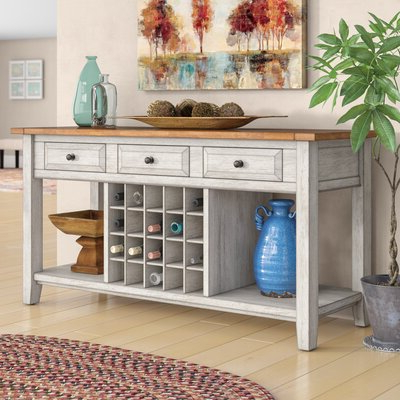 """Most Recent Slattery 52"""" Wide 2 Drawer Buffet Tables Regarding Wine Bottle Storage Equipped Sideboards & Buffets You'll (View 17 of 30)"""