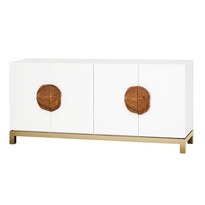 """Most Recent Slattery 52"""" Wide 2 Drawer Buffet Tables Throughout Rustic White Sideboards & Buffets You'll Love In (View 24 of 30)"""