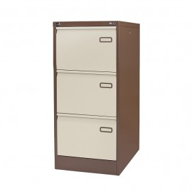 Most Recently Released 3 Drawer And 2 Door Cabinet With Metal Legs Within 3 Drawer Steel Filing Cabinet Coffee Cream – Metal Filing (View 6 of 30)
