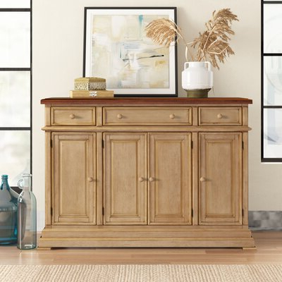 """Most Recently Released 3 Drawer Sideboards Regarding Three Posts™ Courtdale 60"""" Wide 3 Drawer Sideboard (View 6 of 30)"""