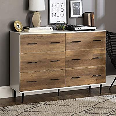 """Most Recently Released Amazon – Walker Edison Modern Two Toned Wood Sideboard In Milena 52"""" Wide 2 Drawer Sideboards (View 9 of 30)"""