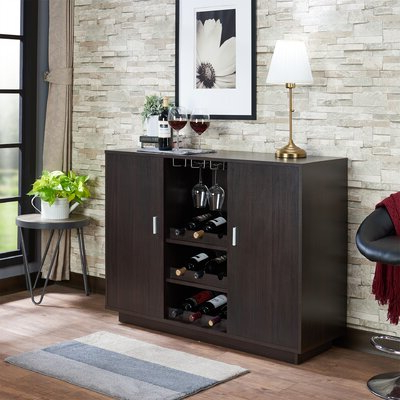 """Most Recently Released Espresso Wood Sideboards & Buffets You'll Love In 2020 Throughout Shirley Mills 52"""" Wide Buffet Tables (View 6 of 30)"""
