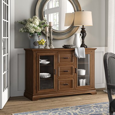 Most Recently Released Honey Oak Buffet Server (View 10 of 30)