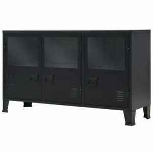 """Most Recently Released Tarakan 43.3"""" Wide 3 Drawer Wood Sideboards Within Grubvalue Sideboard Metal Industrial Style 47.2""""x (View 12 of 30)"""