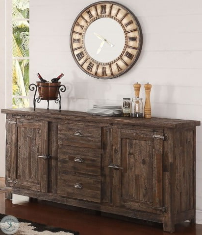 Most Recently Released Tuscany Park Vintage Grey Sideboard From New Classic Throughout Rockville (View 16 of 30)
