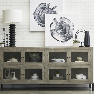 """Most Recently Released Westhoff 70"""" Wide 6 Drawer Pine Wood Sideboards Intended For Farmhouse Buffet Hutch (View 27 of 30)"""