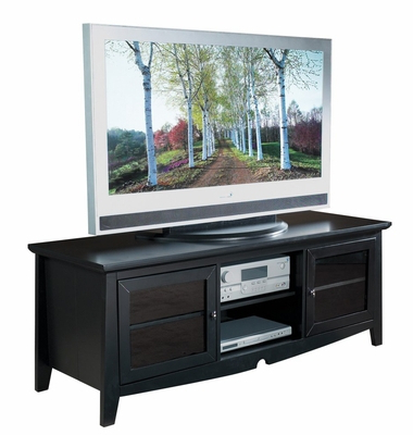 """Most Up To Date 60 Inch Tv Stand With Side Folding Construction In Black With Miah Tv Stands For Tvs Up To 60"""" (View 6 of 30)"""