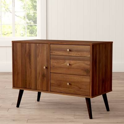 """Most Up To Date Cora Rose 62.9"""" Wide 3 Drawer Acacia Wood Sideboards For Cora Rose  (View 3 of 26)"""