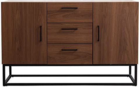 """Most Up To Date Frida 71"""" Wide 2 Drawer Sideboards With Regard To Amazon – Canmov Modern Sideboard Storage Cabinet (View 16 of 30)"""