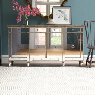 """Most Up To Date Kidham 68"""" Wide Sideboards In Erin Mirrored Sideboard (View 11 of 30)"""