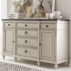 """Most Up To Date Ornithogale 64"""" Wide 6 Drawer Sideboard (with Images Intended For Ronce 48"""" Wide Sideboards (View 2 of 30)"""