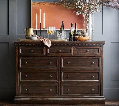 """Most Up To Date Searsport 48"""" Wide 4 Drawer Buffet Tables With Banks 60"""" Buffet #potterybarn In (View 16 of 30)"""